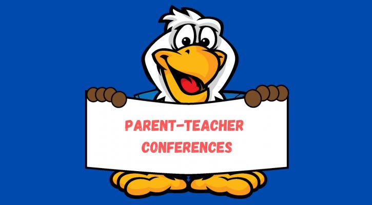 Eagle holding conference sign