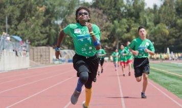 Student Running in Irvine Junior Games