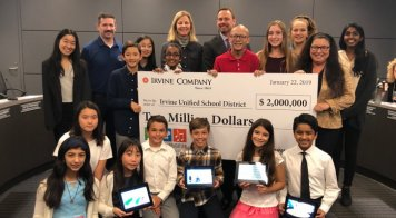 Irvine Company Issues Check to IUSD