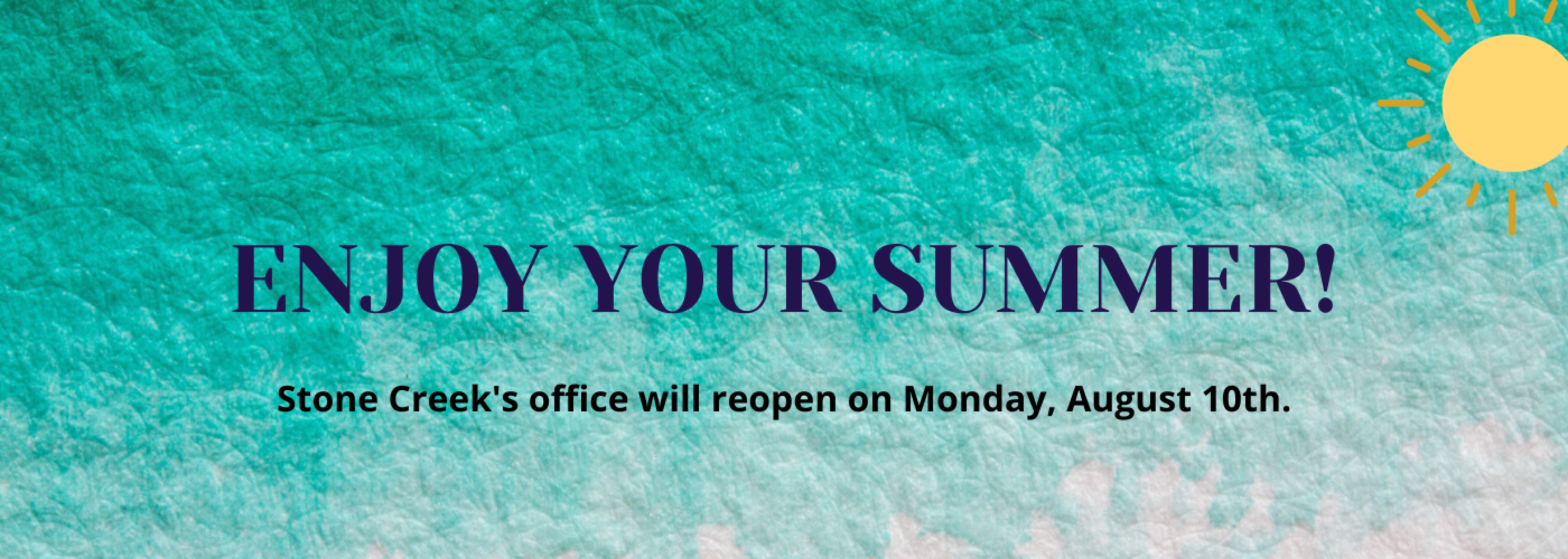 Summer Office Reopening