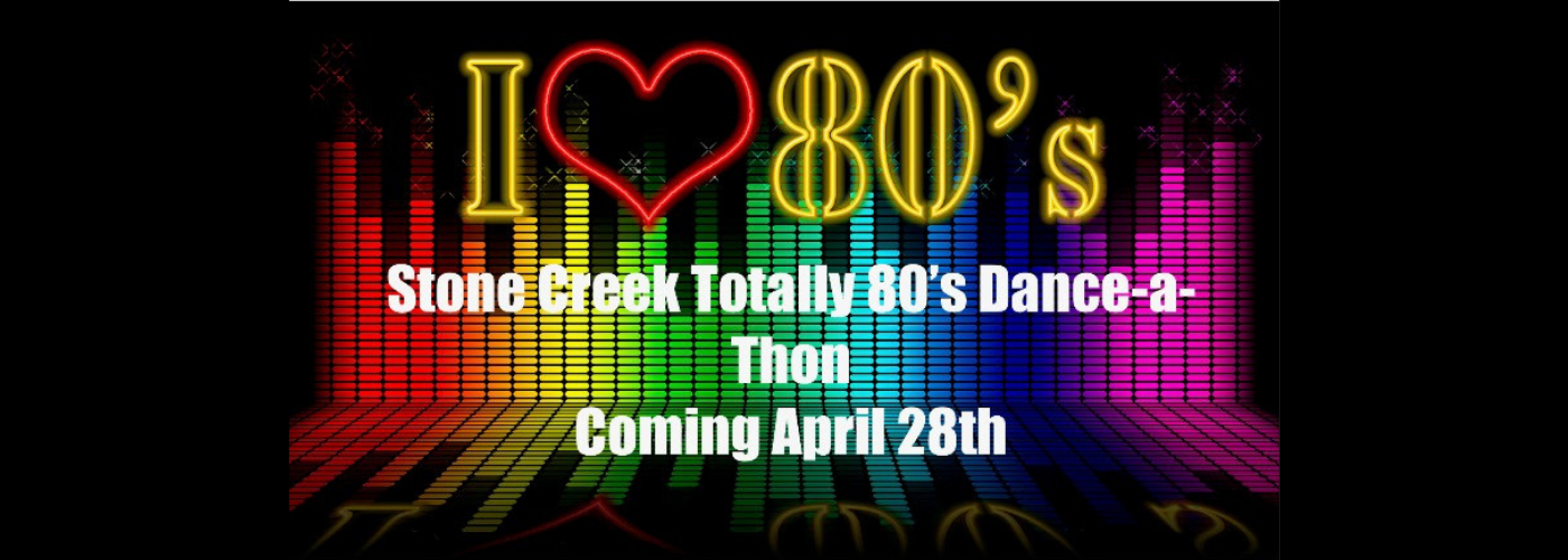 80's dance-a-thon coming april 28